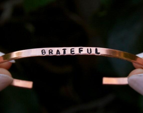 Grateful Bracelet |  | Appreciation jewelry | Inspirational Jewelry | Gratitude jewelry | Gratitude Gift | Gift for Yogi | Spiritual Jewelry
