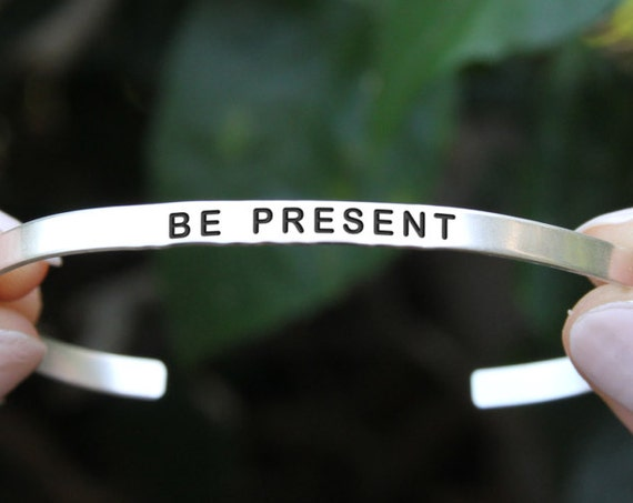 Be Here Now | Here and Now | Be Present | Be Here Now Jewelry | Be Here Now Bracelet  | Mindfulness Gift