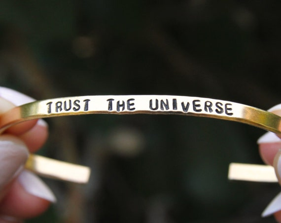 Trust the universe | Child of the Universe | Moonchild | Mindfulness gift |Spiritual Jewelry | Yoga Bracelet | Yoga Gift | Yoga Teacher