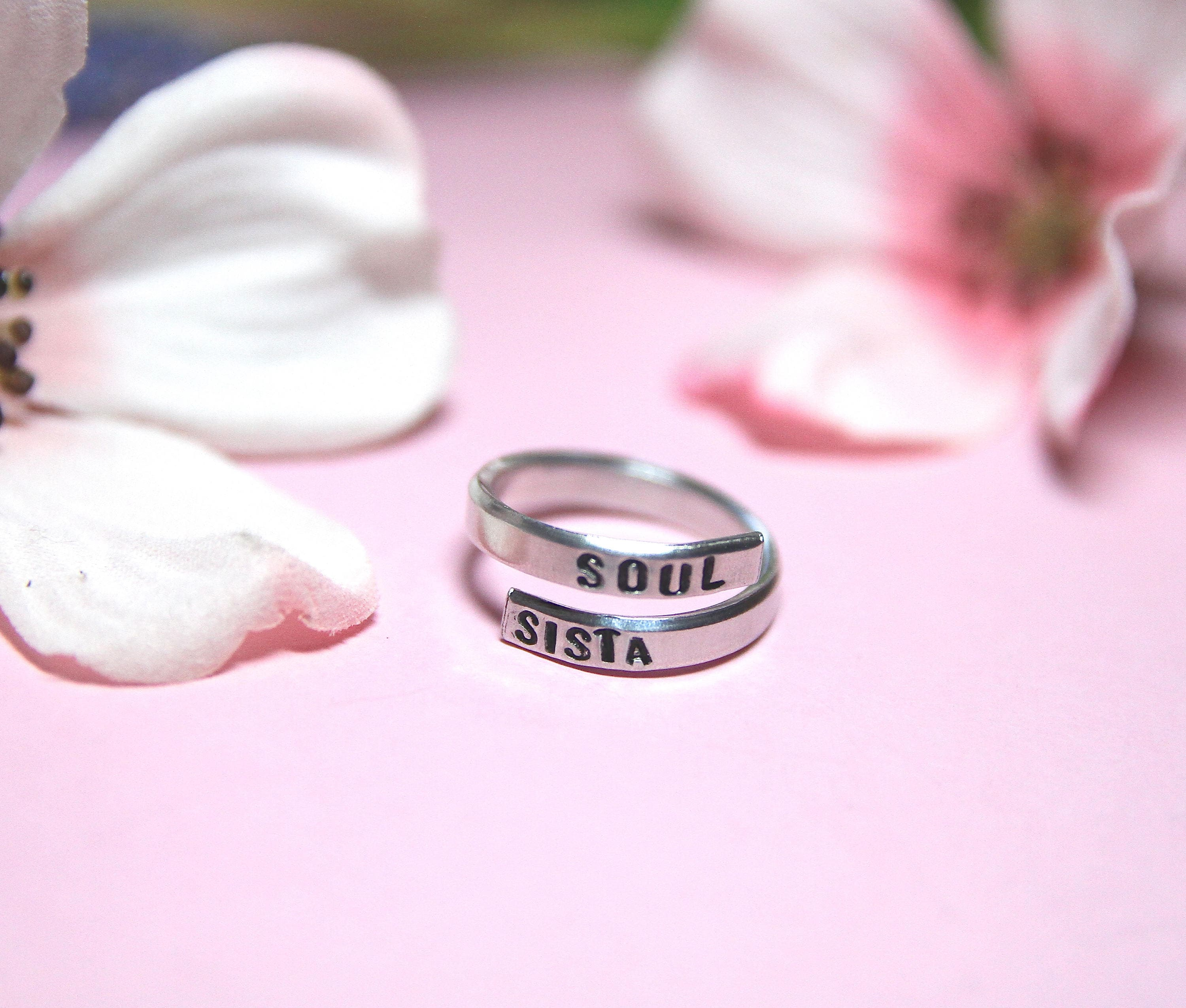 Soul Sista Ring | Soul Sister | Bestfriend | Long Distance Friend ...