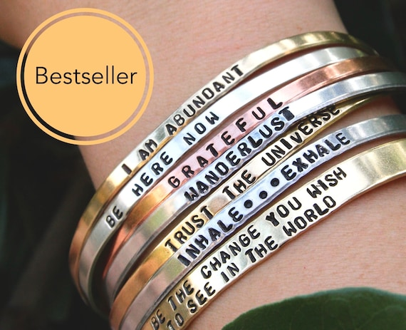 Personalized Bracelet for Women | Custom Bracelet | Coordinate Bracelet | Skinny Cuff Bangle | Wedding date Bracelet | Medic Alert Bracelet