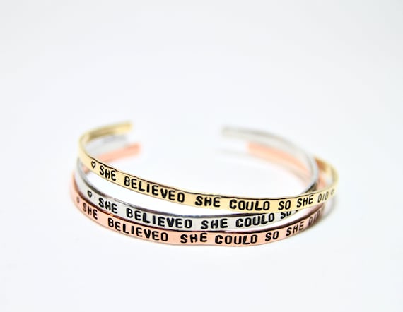 She Believed She Could So She Did | So She Did Bracelet | Lawyer Gift | Lawyer Birthday | Realtor Gift | Realtor Closing | Real estate agent