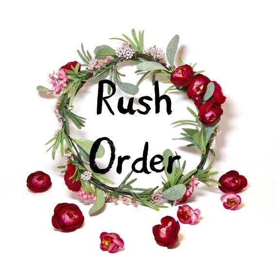 Rush Order-(Flower crowns)
