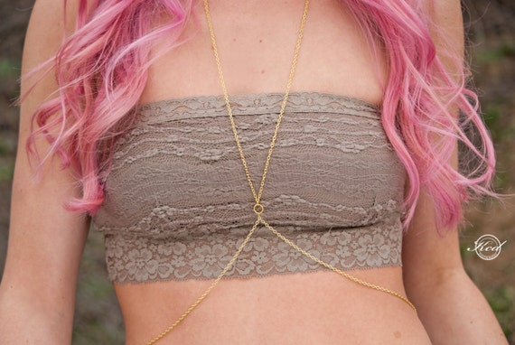 Body chain | Simple Gold Body Chain | Simple Silver Body Chain | Gold Body Jewelry | Body Chain