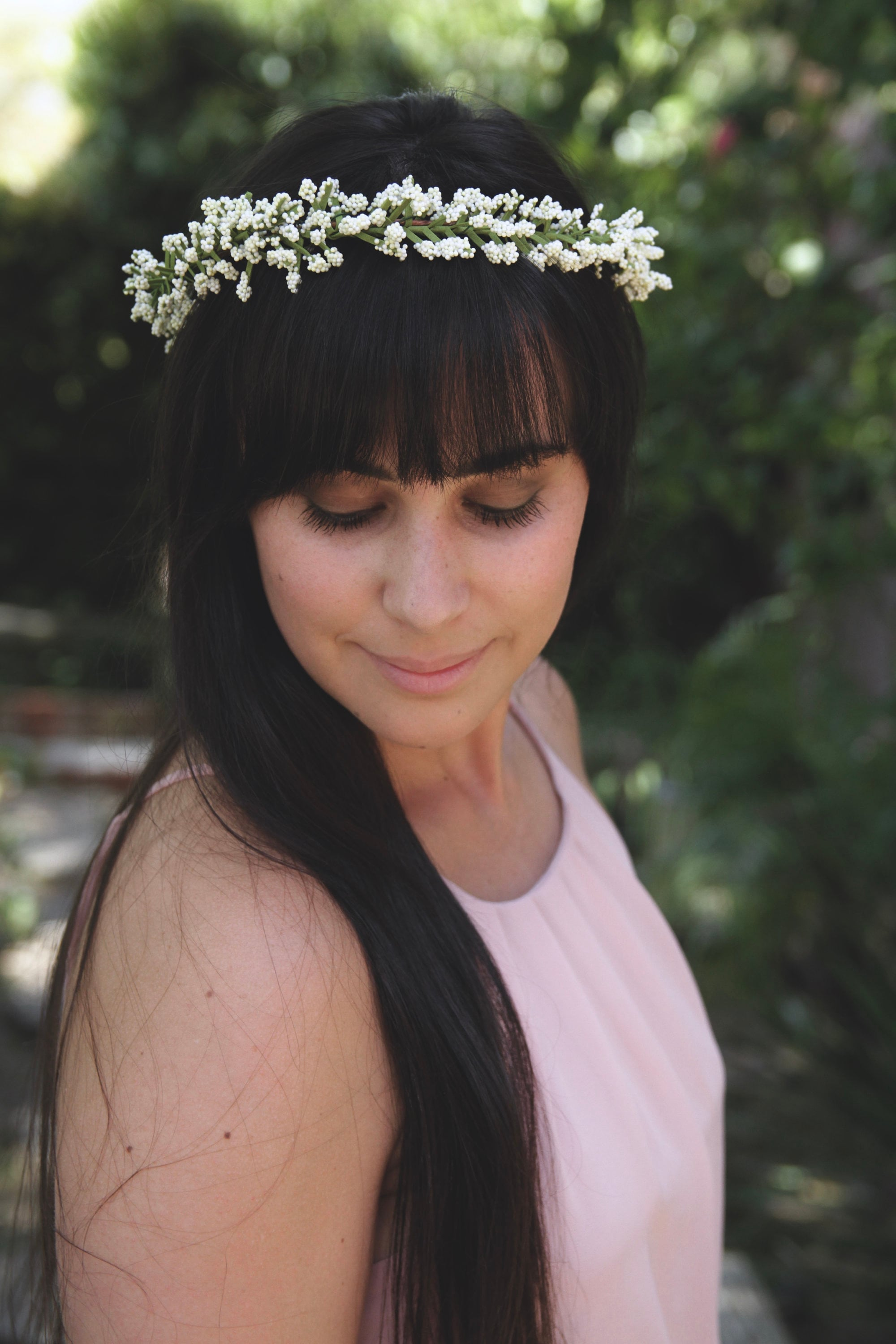 Babys Breath Crown | Babys Breath Flower crown| Simple White Flower ...