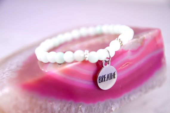 Breathe Bracelet | Just Breathe | Mantra Bracelet | Breathe Jewelry | Just Breathe Jewelry | Inhale Exhale | Anxiety Relief | Anti Anxiety