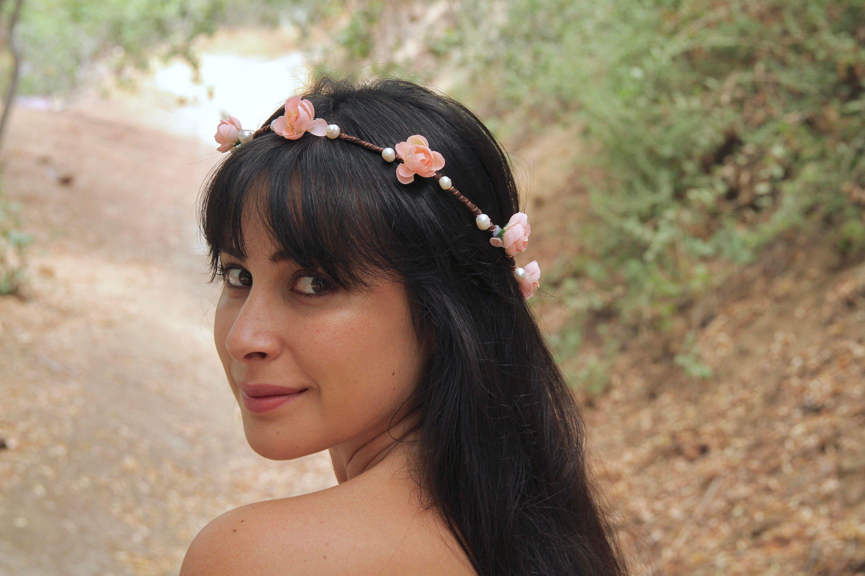 Pearl Flower Crown Pearl Crown Pearl Bridal Crown Pearl Wedding