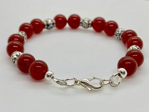 Macrame Red Carnelian Bracelet BRC7