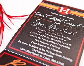 Script   All-N-One wedding Invitation   Tri-fold with attached RSVP   Deposit to get started