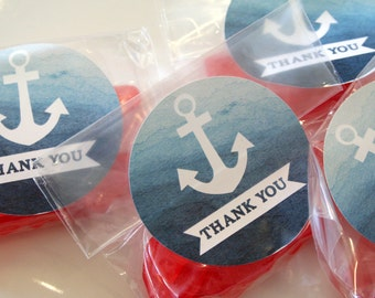 Nautical Thank You Printable Labels