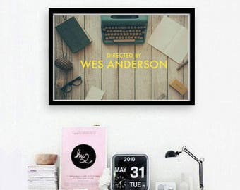 Opening Credits - ('Wes Anderson') Wall Art
