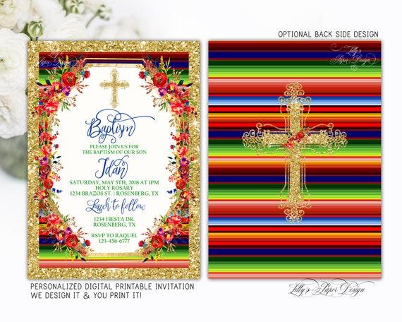 Baptism Fiesta Invitation Mexican