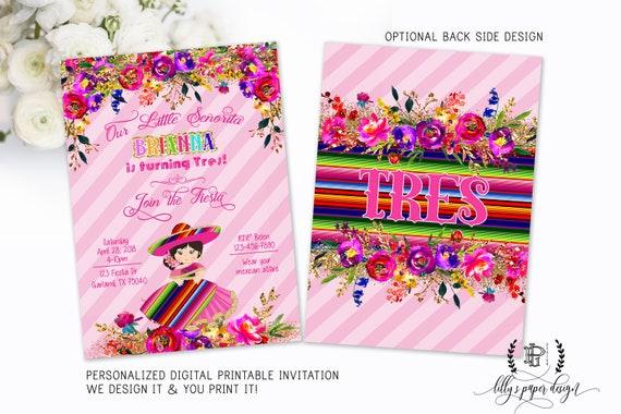 fiesta invitation girl fiesta invite mexican party invite first
