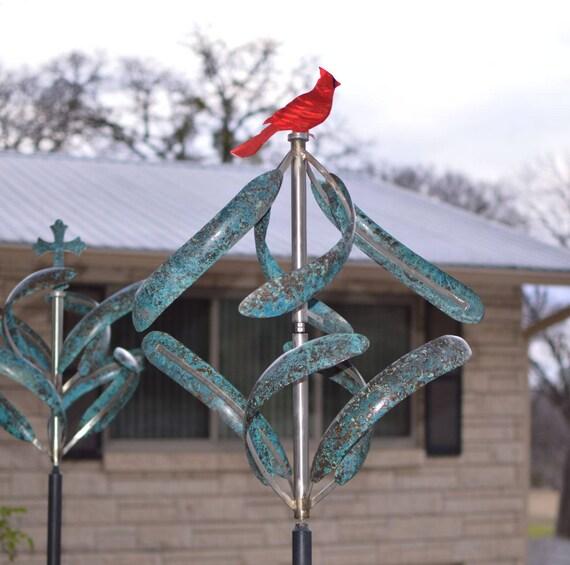 BreezeWay Kinetic Wind Sculpture Morning Glory | Etsy