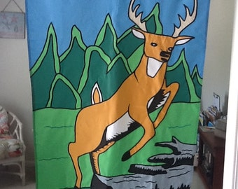 Deer / Deer Hunting Recreation Large Decorative Flag