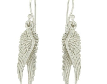 Sterling silver Angel wing earrings #angel