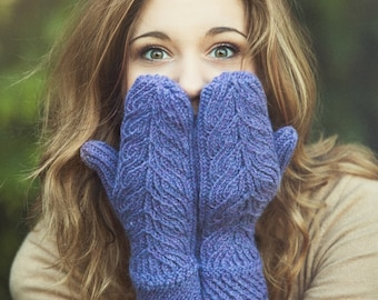 Handknit Wool Mittens Knitted Mittens Choose Colour Winter Mittens Cozy Soft Wool blend Mittens Gift for Her Knit Gloves