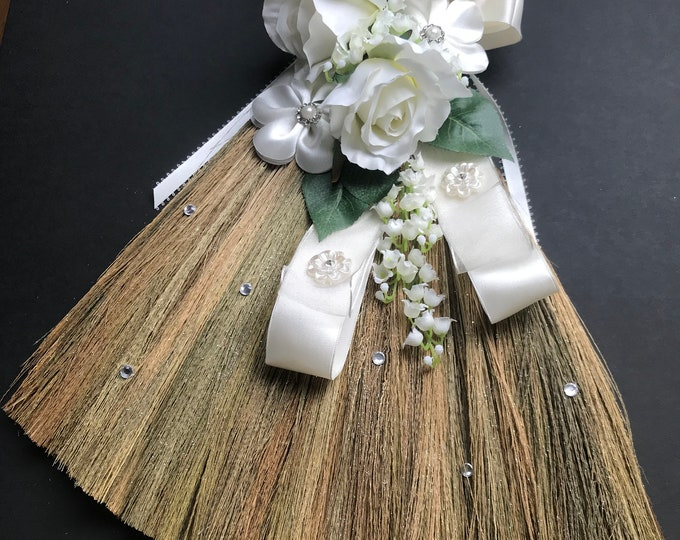 WEDDING BROOM in Bridal White
