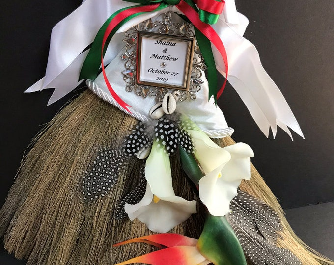 Custom Wedding Broom for an African American/Italian Wedding