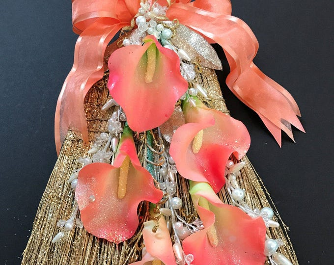 New GLAM WEDDING BROOM with Calla Lilies