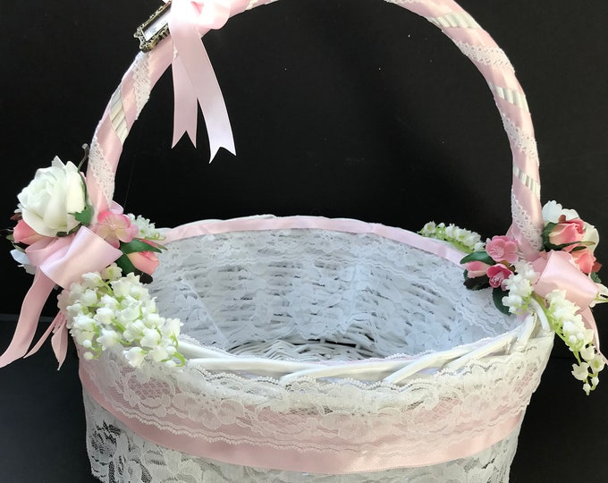 Baptismal Basket for a Baby Girl
