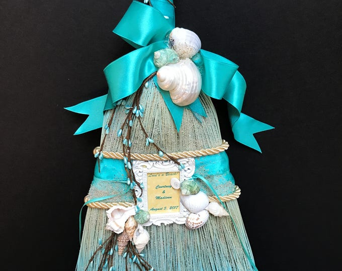 Elegant Shore Theme Wedding Broom