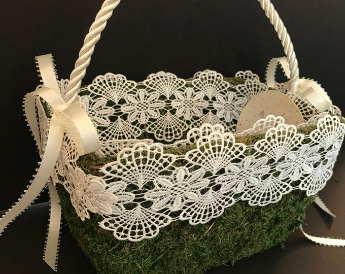 Mossy Flower Girl's Basket