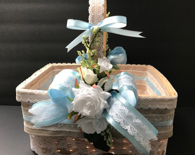 Flowergirl and Baptismal Basket