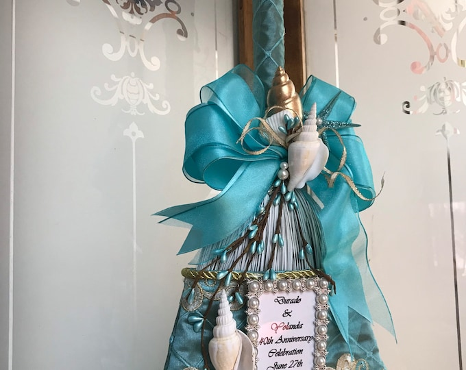 New Starfish Inspired Wedding Broom