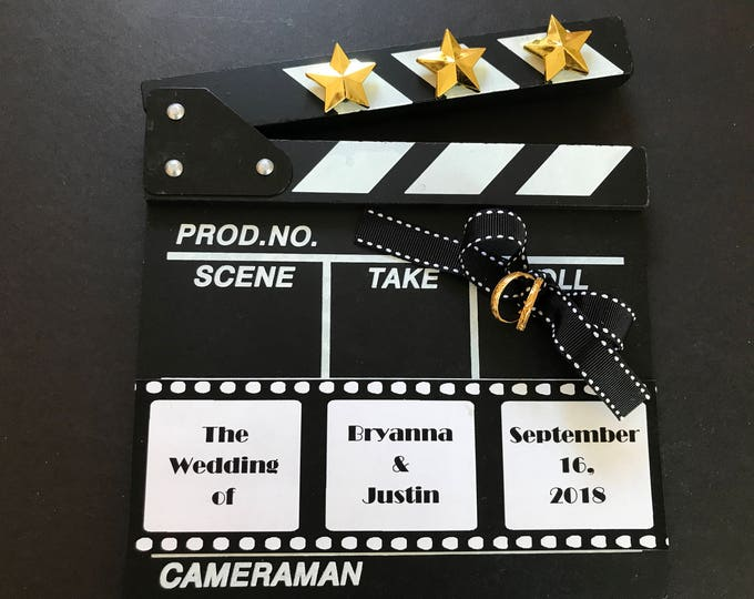 RING BEARER'S CLAPBOARD