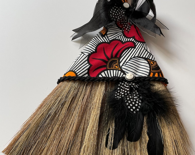 Ghanaian Red Lotus Wedding Broom
