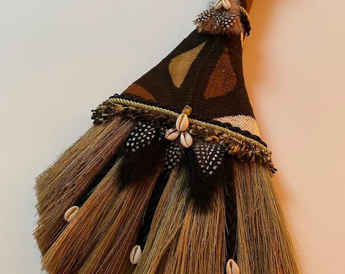 Mud Cloth Moderne II African Wedding Broom