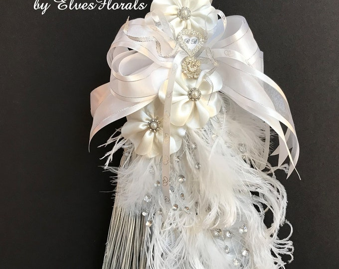Wedding Broom with Commemorative Heart