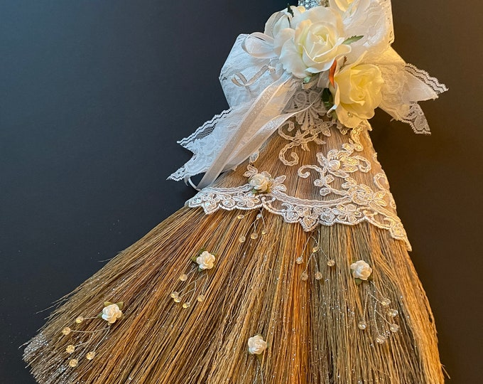 Bridal Lace Wedding Broom