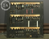 Antique Industrial Fuse Panel Wall Display