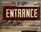 Mid Century Metal Entrance Sign