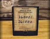 Vintage Apothecary McCracken Steel Smooth Arch Metal Prescription File Box