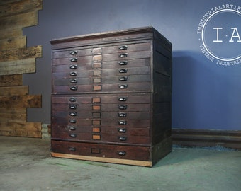 Flat file cabinet etsy mid 1800s hamilton flat file cabinet malvernweather Gallery