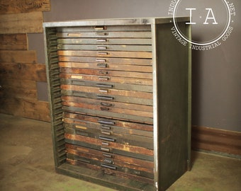 Flat file cabinet etsy vintage industrial 25 drawer hamilton flat file printers cabinet malvernweather Gallery
