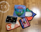 Iron-On Patches - Random Assortment of Five Vintage Patches