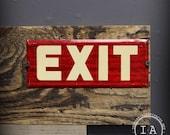 Mid Century Metal Exit Sign