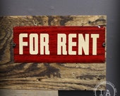Mid Century Metal For Rent Sign Advertising