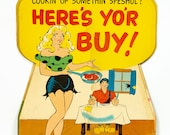 Vintage Al Capp Illustrated Hanging Store Ad Sign