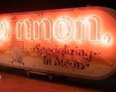 Antique Butcher Shop Neon Sign