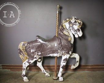 Antique Carnival Carousel Horse