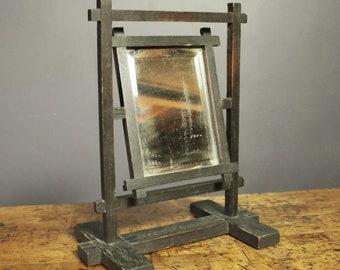 Vintage Flexo Garter Advertising Display Mirror