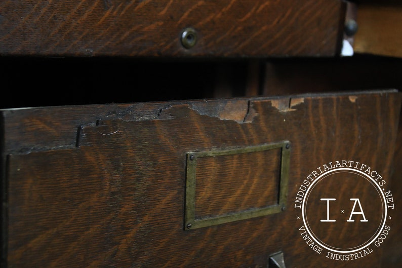 Turn Of The Century Apothecary Cabinet by Amberg File /& Index