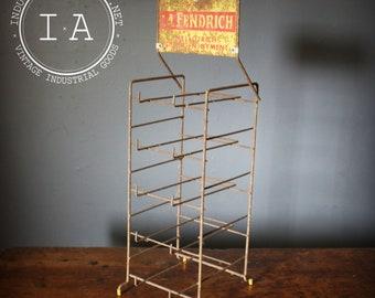 Vintage La Fendrich Cigar Advertising Display Stand Rack