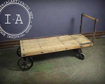 Antique Wooden Machine Shop Cart