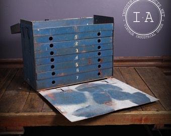 Vintage Industrial Shop Made Steel Storage Cabinet Tool Box